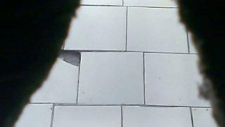 Some stranger Asian ladies in the public toilet room filmed on cam