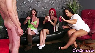 Cfnm hotties stroking