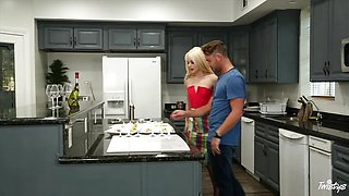 Naughty blonde Elsa Jean gets hot and spicy