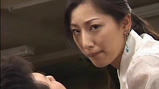 Japanese busty assistant groped in office