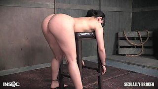 Ass and throat hardcore abuse with a big cock for Mandy Muse