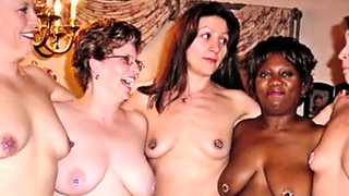 Nipples pierced and clamped compilation