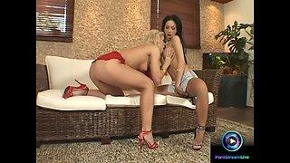 Jasmine and Mya Diamond with wet dildo sessions