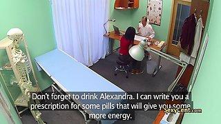 doctor fucks nurse after hospital exam