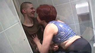Toilet granny