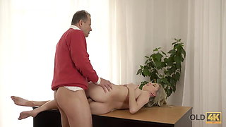 OLD4K. Innocent girl embarks spontaneous sex with mature...