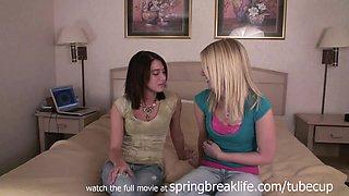 SpringBreakLife Video: Sisters Flash On Bed