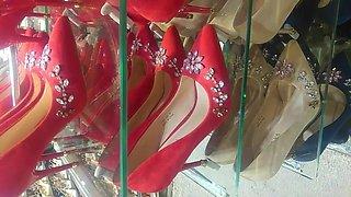 Sexy heels suede and velvet