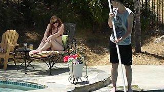 Seduction at the pool.