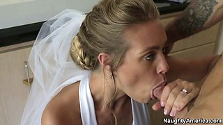 cheating bride nicole aniston sucking dick in the bathroom