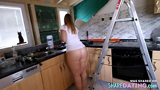 Fat Ass Cleaning the Kitchen Bottomless