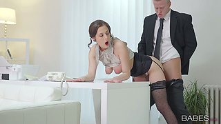 Slutty brunette secretary Antonia Sainz gets banged by her boss
