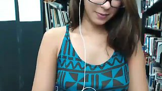 Innocent looking whore ready to spread pussy in public library. (started private uploading! may do only private
