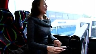 my masturbation challenge in a bus