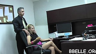 Wicked teen chick is giving hunk a lusty fellatio