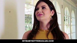MyBabysittersClub- Cute Teen Fucks Big Cock Boss