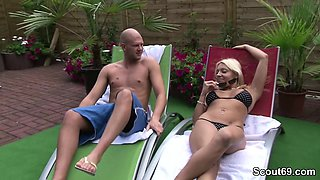 German Hot MILF Seduce Stranger Boy at Pool on Holiday