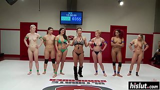 Sex wrestling featuring amazing hot girls