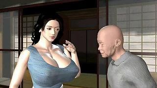 Baku Chichi Hitoduma Modoki 3D