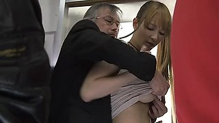 old teacher and student... public sex