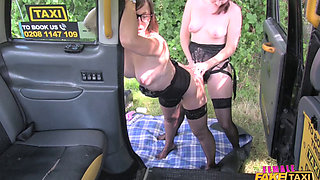 [FemaleFakeTaxi] Cherri, Jamie Ray - Double dildo hot strap on action (31.08.2017) rq