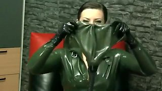 Horny homemade Latex, Fetish adult video