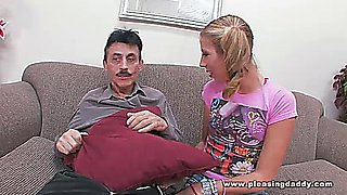 Chastity Lynn Walks In On Old Man Jerking Off And Joins Him