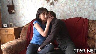 Fang rams gash of shameless russian brunette doll ginta