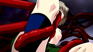 Teen anime sex slaves wrapped and fucked by tentacles