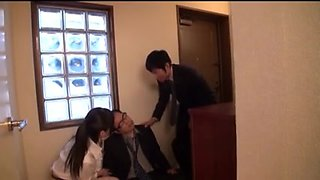 Cheating Japanese wife hardcore fucking with a guy