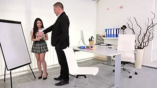 Little Candy- Lazy student gets anal orgasm as punishment