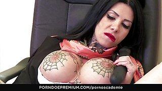 PORNO ACADEMIE - Megan Inky ass fucking 3way