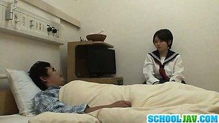 Naughty Teen Schoolgirl Fucks A Guy At The Hospital