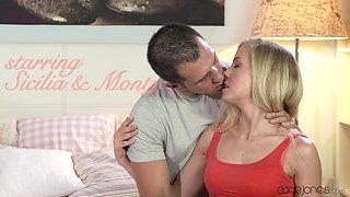 Exotic pornstars Monty, Sicilia in Amazing Creampie, Romantic porn scene