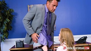 Bridgette B and Dolly Leigh are in need of a co-worker's big dick