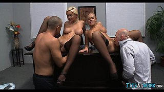 Foursome at the Office