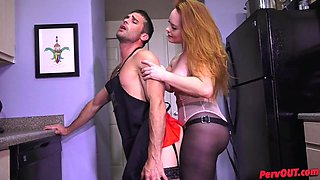 Pegging in Pantyhose Sissy Training w Summer Hart and Lance