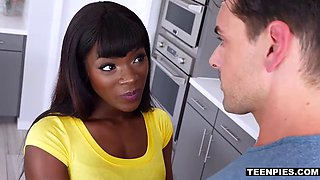 Ebony whore fucks a girlfriends husband