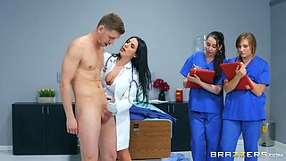 busty doc cures the patient of his erection