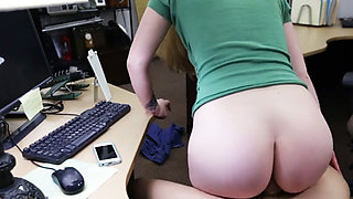 This horny blonde was paid to suck my dick and fuck