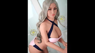 White big breasted female doll full of temptation