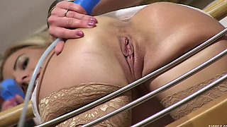 Stairs spreading pussy - Nathaly Cherie