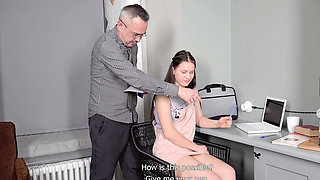 Tricky Old Teacher - Hottie achieves her goal with the help