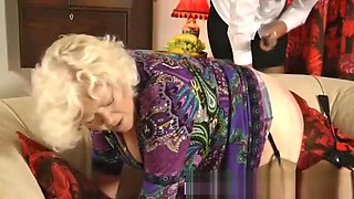 sub granny gets spanking from young Mistress