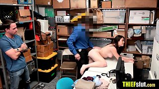 Cute housewife busted and fucked in front of her hubby