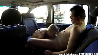 Tattoed Slutty Teen Fucked in Parking Lot