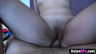 Horny Asian girlfriend knows how to ride cock