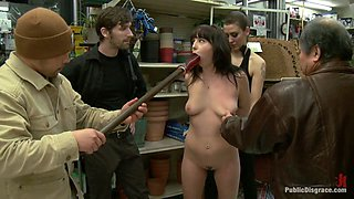 20 Year Old Slut Gets Used In A Hardware Store - PublicDisgrace