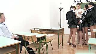 Cathy Heaven, Aida Sweet, and Aysha Rouge fucks at school