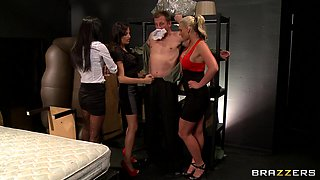 Three Babes Punish Their Boss For Treating Them Bad